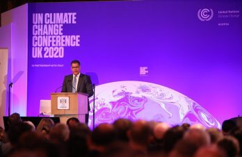 Photograph of the Right Honourable Alok Sharma at the launch of the COP26 Private Finance Agenda at Guildhall, London, on Thursday 27 February