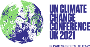 An image of the logo for UN Climate Change Conference (COP26) at the SEC – Glasgow 2021
