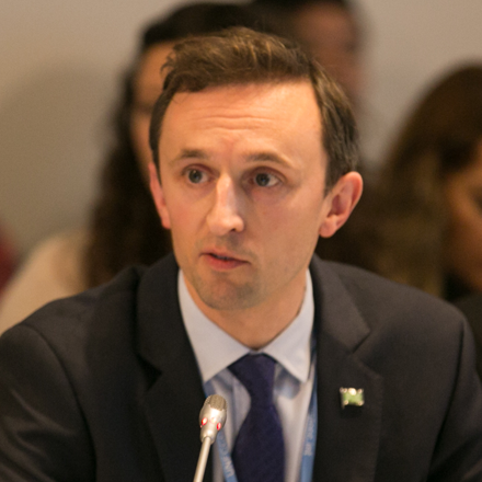 Photograph of COP26 team member Archie Young
