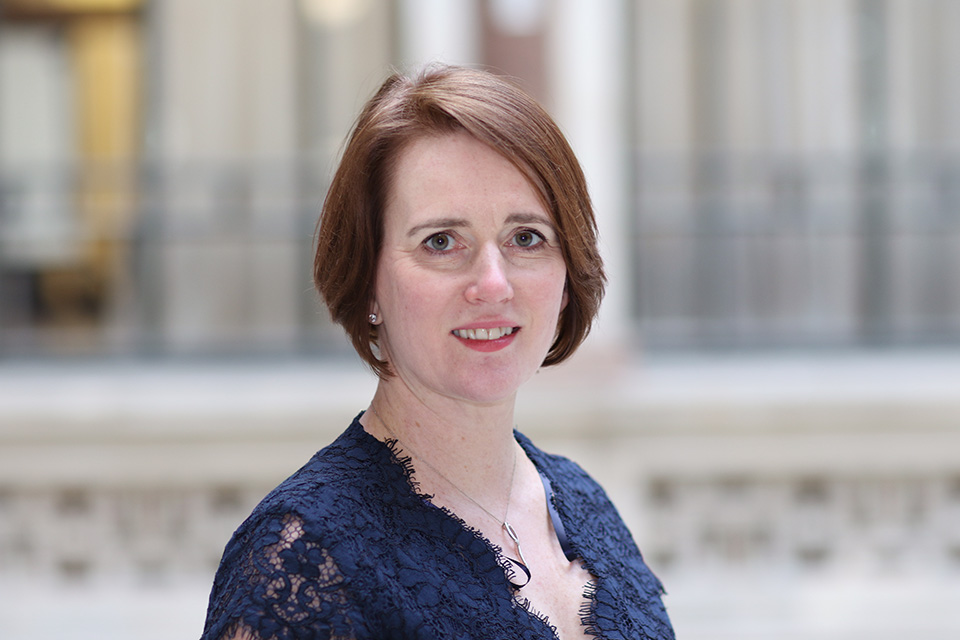 A photograph of HE Kara Owen, British High Commissioner to Singapore at the ASEAN Low Carbon Energy Programme's Gender and Climate webinar